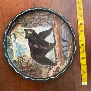 Vintage Wall Art - Vintage Bear Over Water Decorative Serving Tray